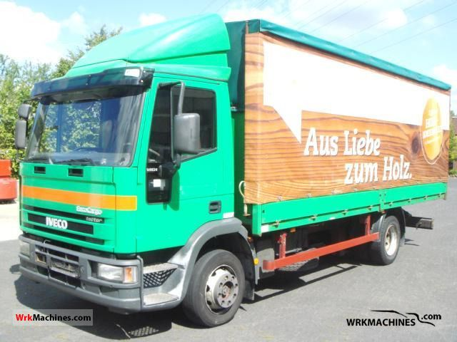 2001 IVECO EuroCargo 120 E 24 Truck over 7.5t Stake body and tarpaulin photo