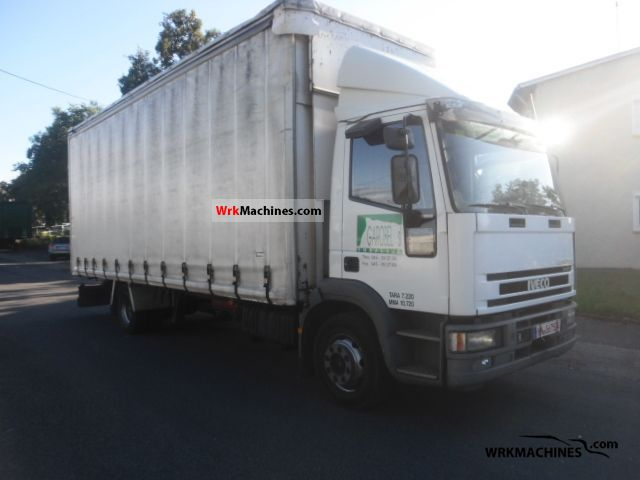 2001 IVECO EuroCargo 120 E28 Truck over 7.5t Stake body and tarpaulin photo