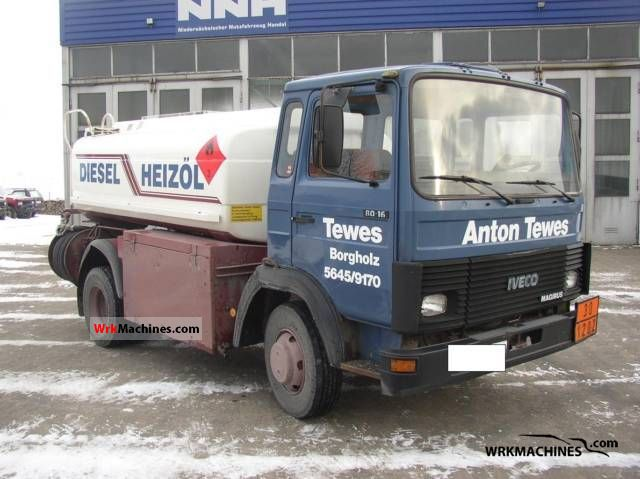1986 IVECO MK 80-16 Van or truck up to 7.5t Tank body photo