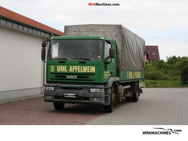 1992 IVECO EuroTech MP 180 E 34 Truck over 7.5t Stake body and tarpaulin photo