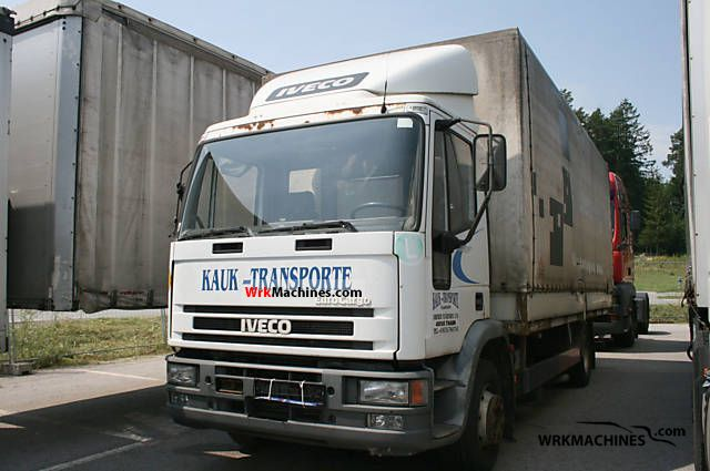 2000 IVECO EuroCargo 130 E 18 Truck over 7.5t Stake body and tarpaulin photo