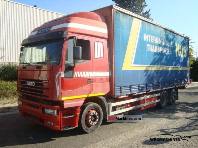 2003 IVECO Stralis 260S43 Truck over 7.5t Stake body and tarpaulin photo