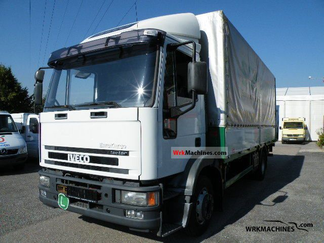 2002 IVECO EuroCargo 150 E 28 Truck over 7.5t Stake body and tarpaulin photo