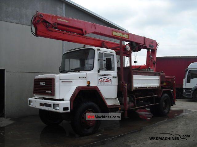 1985 IVECO P/PA-Haubenfahrzeuge 150-16 Truck over 7.5t Truck-mounted crane photo
