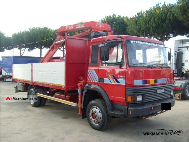 1989 IVECO M 115-17 Truck over 7.5t Truck-mounted crane photo