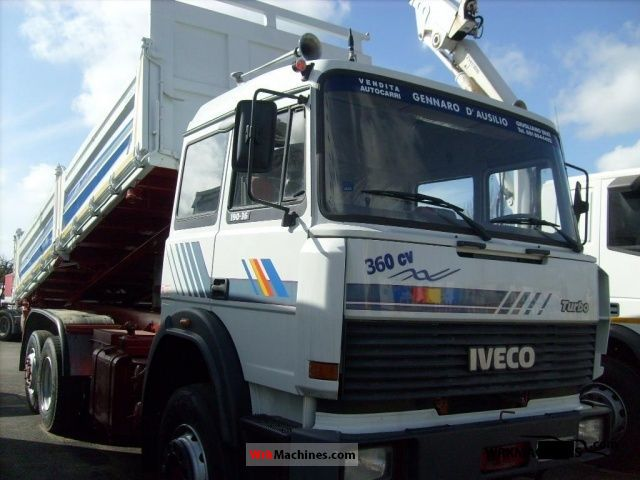 1989 IVECO TurboStar 190-36 Truck over 7.5t Three-sided Tipper photo