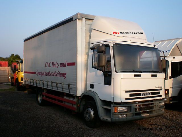 2003 IVECO EuroCargo 120 E 24 Truck over 7.5t Stake body and tarpaulin photo
