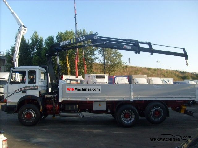 1991 IVECO M 175-24 Truck over 7.5t Truck-mounted crane photo