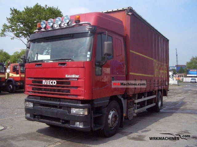 2002 IVECO EuroStar 190 E 40 Truck over 7.5t Stake body and tarpaulin photo