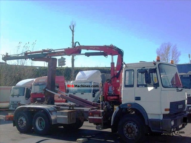 1990 IVECO TurboTech 190-26 Truck over 7.5t Truck-mounted crane photo
