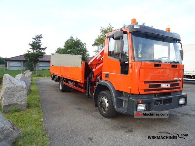 2003 IVECO EuroCargo 120 E 24 Truck over 7.5t Truck-mounted crane photo