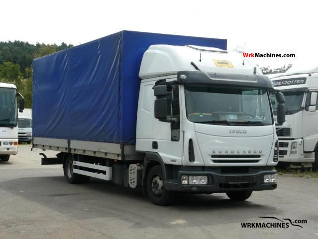 2006 IVECO EuroCargo 75 E 18 Truck over 7.5t Stake body and tarpaulin photo