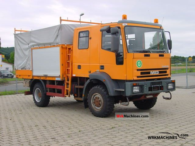 1999 IVECO EuroCargo 95 E 21 Truck over 7.5t Stake body and tarpaulin photo
