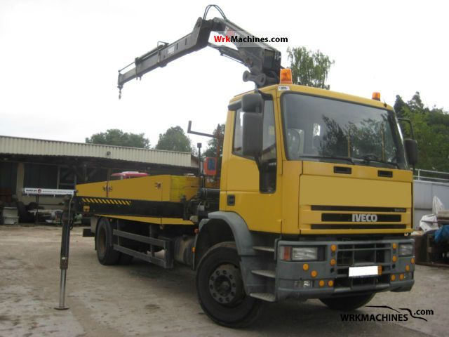2003 IVECO EuroCargo 180 E 28 Truck over 7.5t Truck-mounted crane photo