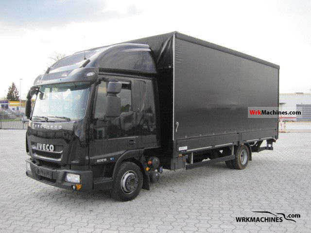 2010 IVECO EuroCargo 80 E 18 Truck over 7.5t Stake body and tarpaulin photo