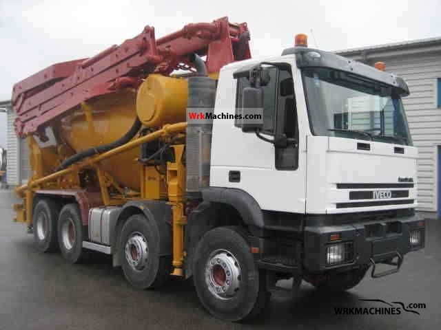 2002 IVECO EuroTrakker 410 E 42 Truck over 7.5t Cement mixer photo