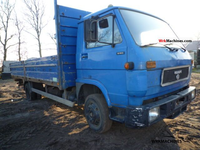 1992 MAN G 90 8.150 Van or truck up to 7.5t Stake body photo