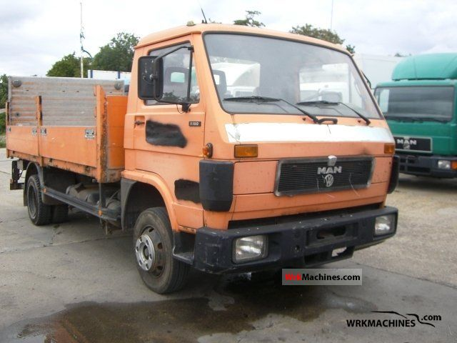 1991 MAN G 90 8.150 Truck over 7.5t Stake body photo