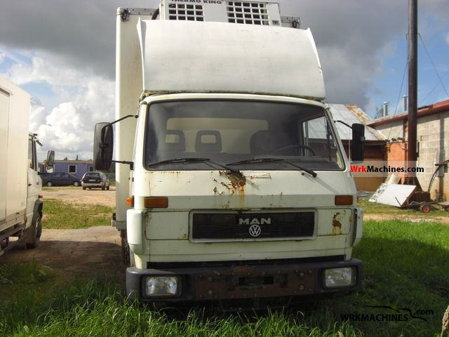 1992 MAN G 90 9.150 Truck over 7.5t Refrigerator body photo