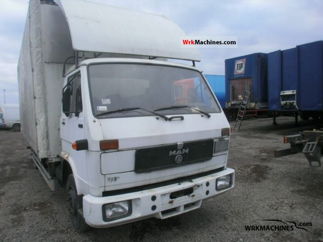 1989 MAN G 90 8.150 Truck over 7.5t Box photo