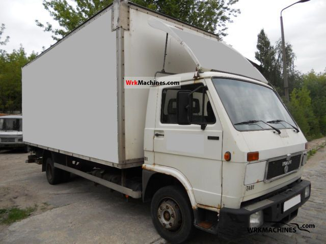 1991 MAN G 90 8.150 Van or truck up to 7.5t Box photo
