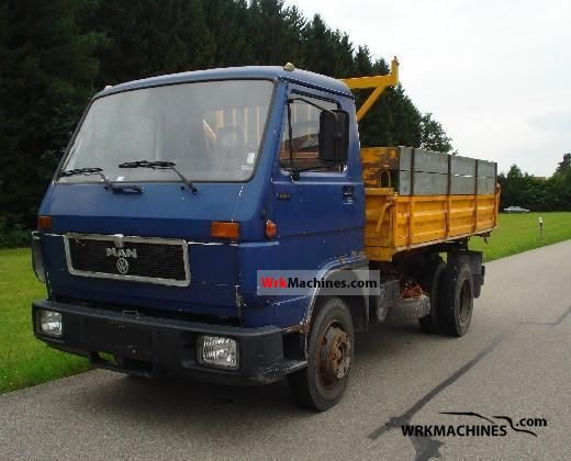 1992 MAN G 90 8.150 Truck over 7.5t Tipper photo