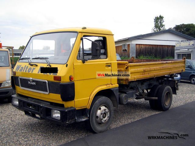 1992 MAN G 90 8.150 Van or truck up to 7.5t Three-sided Tipper photo