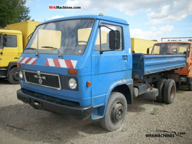 1986 MAN G 8.136 FK Van or truck up to 7.5t Tipper photo
