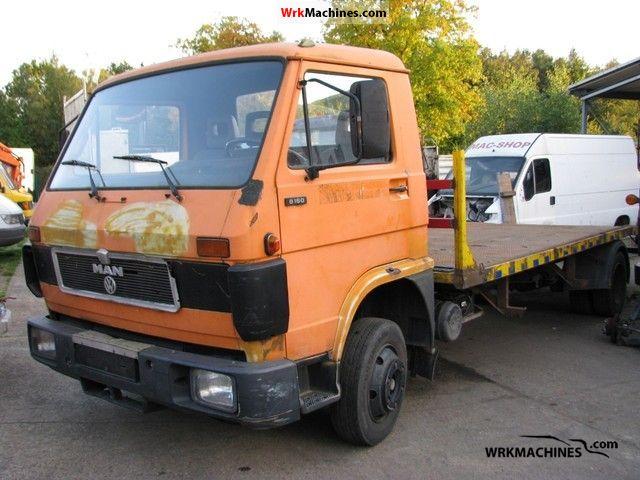 1989 MAN G 90 8.150 Van or truck up to 7.5t Breakdown truck photo