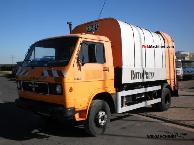 1987 MAN G 10.136 Truck over 7.5t Refuse truck photo