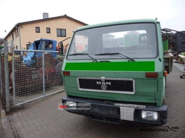 1990 MAN G 90 8.150 Truck over 7.5t Tipper photo