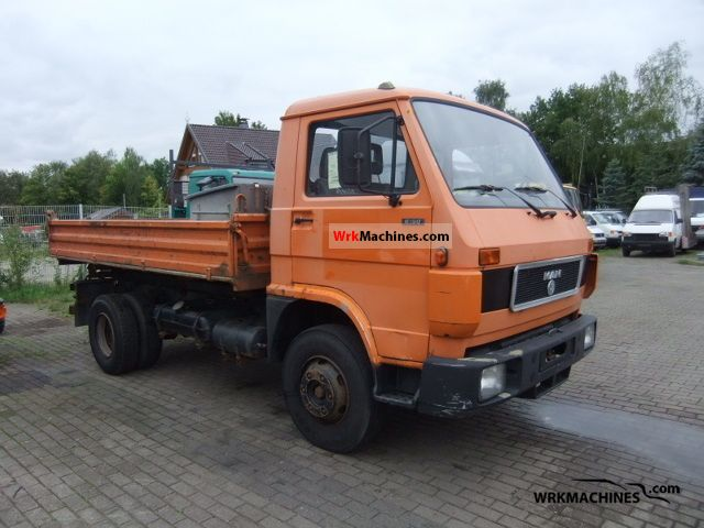 1994 MAN G 90 8.150 Van or truck up to 7.5t Tipper photo