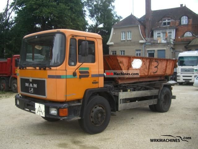 1991 MAN M 90 17.232 Truck over 7.5t Roll-off tipper photo