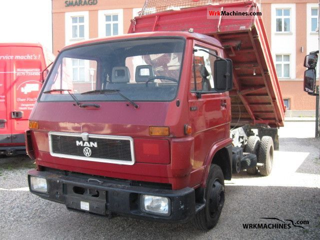 1993 MAN G 90 8.150 Van or truck up to 7.5t Three-sided Tipper photo