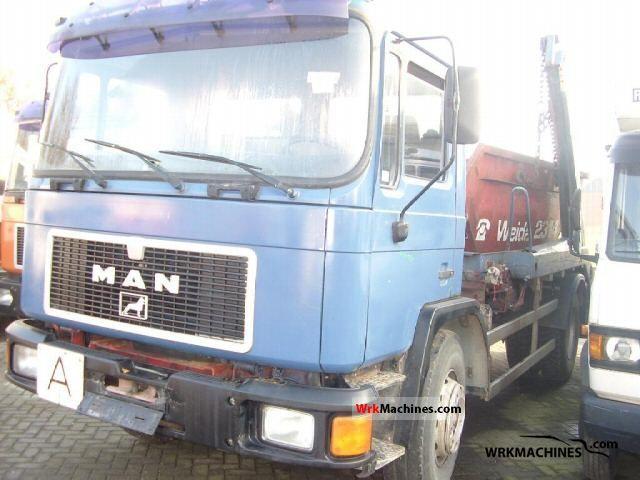 1991 MAN M 90 18.232 Truck over 7.5t Dumper truck photo