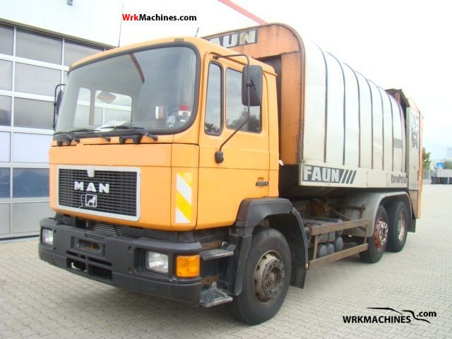 1992 MAN F 90 25.272 Truck over 7.5t Refuse truck photo