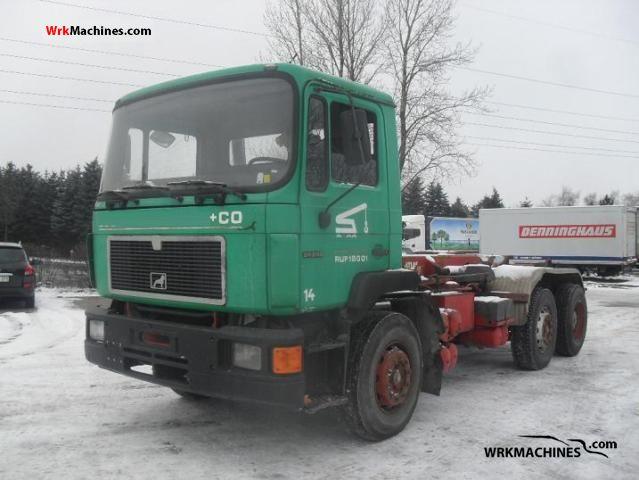 1988 MAN F 90 24.242 Truck over 7.5t Roll-off tipper photo