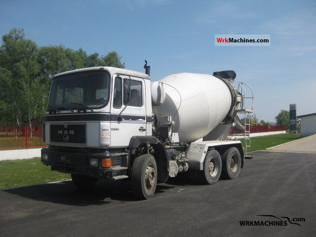 1991 MAN F 90 25.272 Truck over 7.5t Cement mixer photo