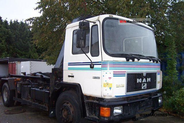 1992 MAN M 90 18.232 Truck over 7.5t Roll-off tipper photo