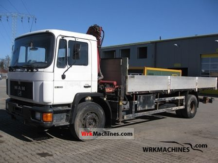 1992 MAN M 90 18.232 Truck over 7.5t Stake body photo