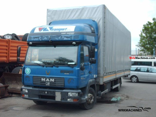 2002 MAN L 2000 220 Truck over 7.5t Stake body and tarpaulin photo
