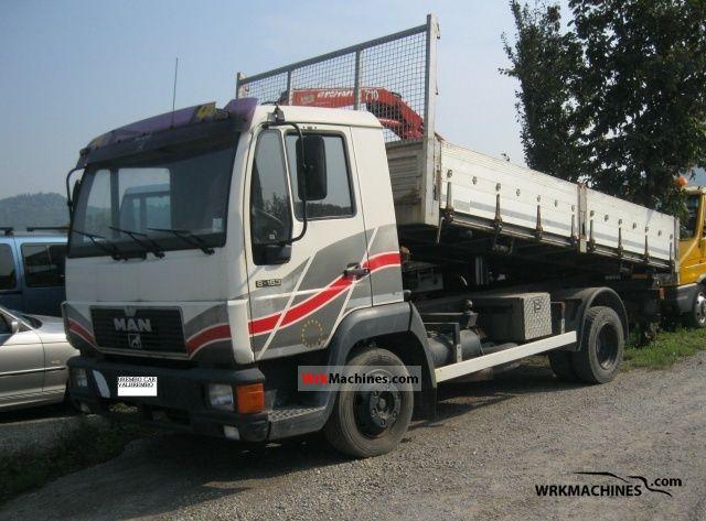 1995 MAN L 2000 8.153 Van or truck up to 7.5t Three-sided Tipper photo