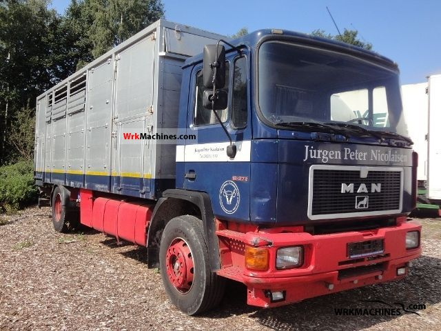 1993 MAN F 90 19.272 Truck over 7.5t Horses photo