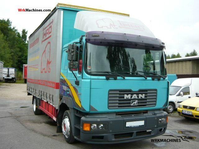 2000 MAN F 2000 19.414 Truck over 7.5t Stake body and tarpaulin photo