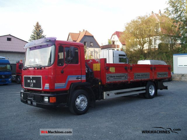 1990 MAN M 90 18.232 Truck over 7.5t Stake body photo