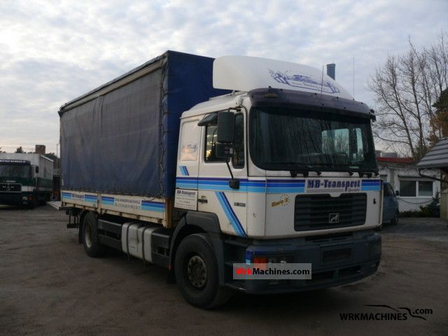 1999 MAN F 2000 19.364 Truck over 7.5t Stake body and tarpaulin photo