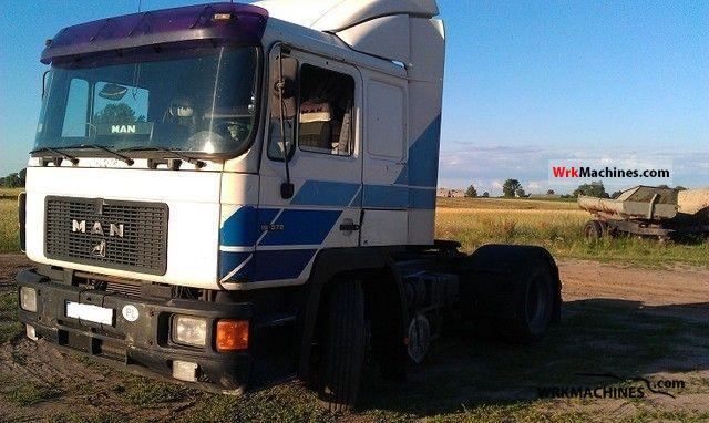 1994 MAN F 90 19.372 Semi-trailer truck Standard tractor/trailer unit photo