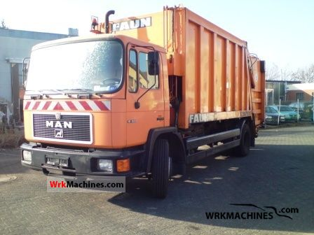 1996 MAN M 90 18.222 Truck over 7.5t Refuse truck photo
