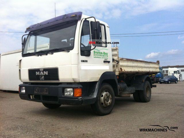 1998 MAN L 2000 8.163 Truck over 7.5t Three-sided Tipper photo