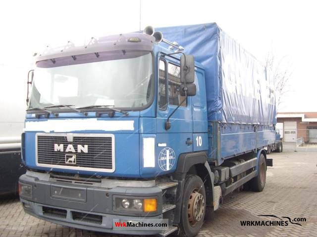 1997 MAN F 2000 19.403 Truck over 7.5t Stake body and tarpaulin photo